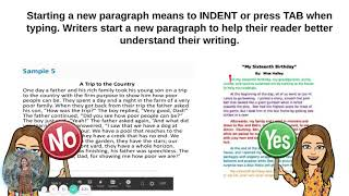 Paragraphs in Narrative Writing