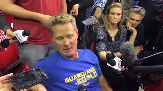 Steve Kerr criticized the NFL for its national anthem policy - Video Youtube