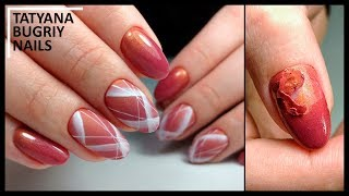 MASTER ERRORS in MANICURE and GEL LACA coating / Geometric Nail Art Design