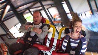 INSANE Spinning Roller Coaster! Tornado At Bakken, Denmark! Would YOU Ride This???