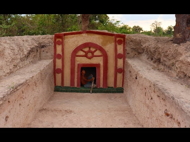 Build The Most Secret Ancient Underground Villa ( Part 1 )