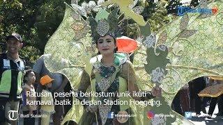 Ratusan Kostum Unik Ramaikan Karnaval Pekan Batik Nusantara 2018