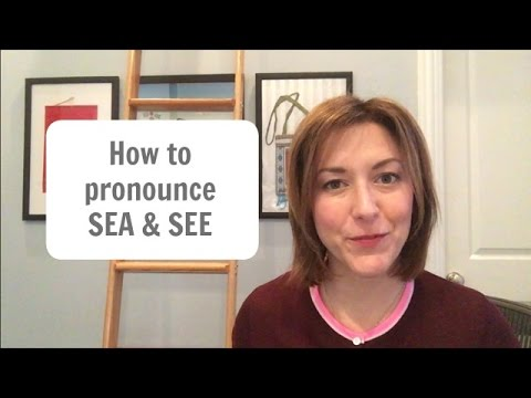 How to Pronounce SEE and SEA - American English Pronunciation Lesson