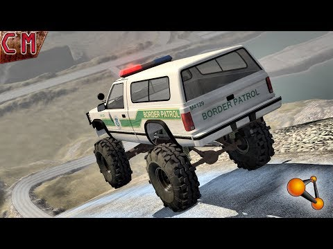 OFF-road High Speed Jumps & Crashes BeamNG Drive