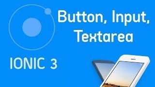 Ionic 3 Tutorial #2 Component button, input, textarea