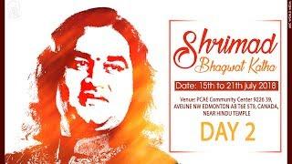 Shrimad Bhagwat Katha || Day -2 || Edmonton, Canada || Shri Devkinandan Thakur Ji Maharaj