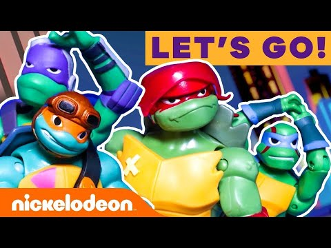 Rise of the TMNT Toys Epic Fights, Radical Chases & More! 🐢 #AD | Nick