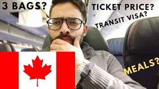 FLIGHT TICKET DETAILS | CANADA