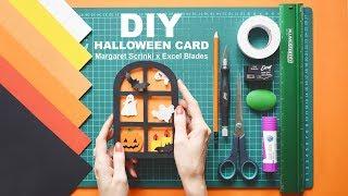 DIY Handmade Halloween Card | Margaret Scrinkl X Excel Blades
