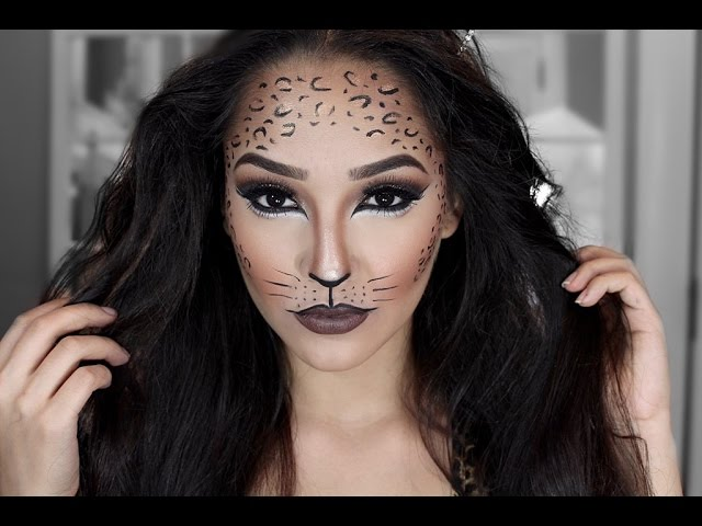 cheetah halloween makeup tutorial