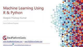 Machine Learning Basics using R & Python by Deepak Pradeep Kumar