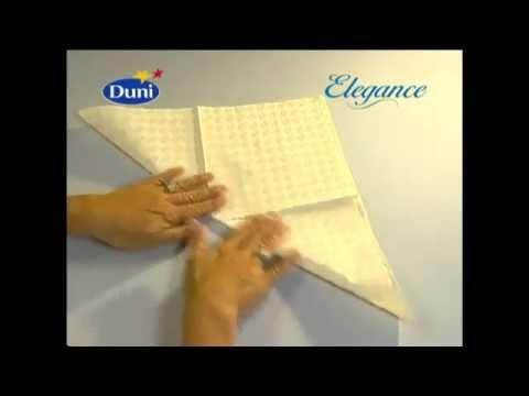 Как красиво сложить бумажные салфетки своими руками и всего за одну минуту!
