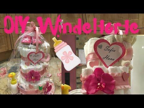 DIY Windeltorte für Mädchen   stefolina