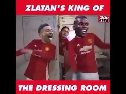 Zlatan Ibrahimovic: The King Of  Manchester United Dressing Room