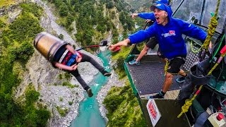 Bungy Jumping Party! Behind The Scenes in New Zealand!