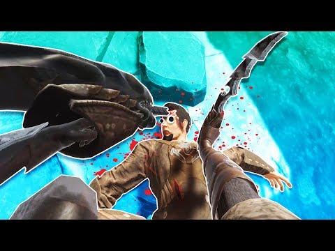 Predator and Alien Weapons vs Dumb Gladiators in Blade and Sorcery VR!