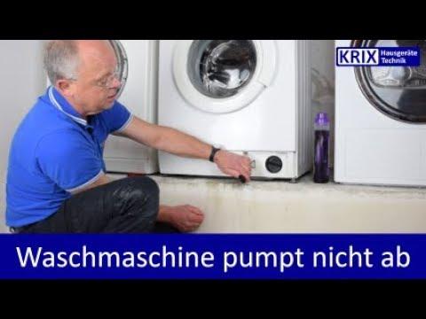 Waschmaschine pumpt nicht ab, Tür öffnet nicht - Soforthilfe Miele, Siemens