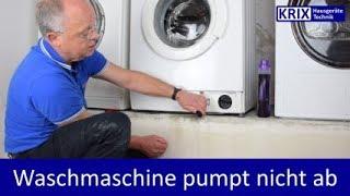 Waschmaschinentür öffnet nicht, pumpt nicht ab - Soforthilfe Miele, Siemens