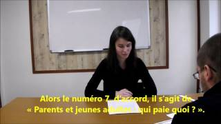DELF A1 Listening Exam Sample Paper Part 3 - DELF A1 French