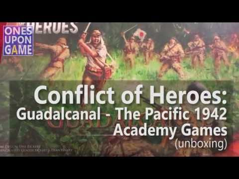 Conflict of Heroes: Guadalcanal – The Pacific 1942 Unboxing by Ones Upon a Game