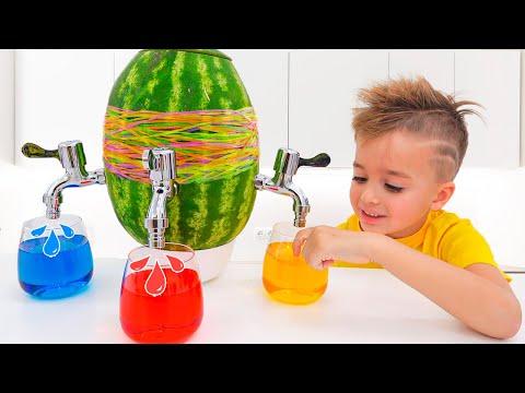 Vlad und Niki haben Spaß mit Mom - Sammlung Kindervideo mit Spielzeug