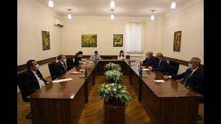 Встреча Министра иностранных дел Армении в парламенте Арцаха