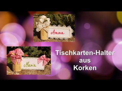 Tischkartenhalter aus Korken/RuthvonG
