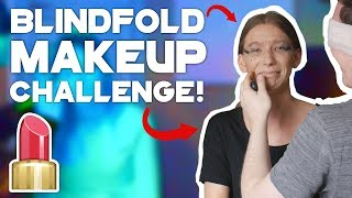 BOYFRIEND DOES GIRLFRIENDS MAKEUP CHALLENGE!💄| BLINDFOLDED
