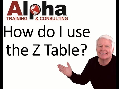 How do I use the Z table? (ASQ certification preparation classes by ...