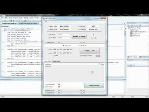 RFID and NFC Mifare programming – Visual basic .net (Windows) source code examples Simple