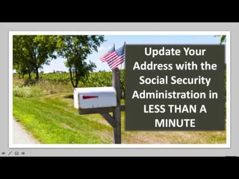 How To Change Your Address with the SSA - IN LESS THAN A MINUTE!!