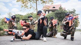 LTT Nerf War : SEAL X Special Mission Use Skill Nerf Guns Pervade Attack Dangerous Criminals
