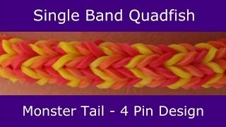 Monster Tail® Single Band Quadfish Bracelet by Rainbow Loom