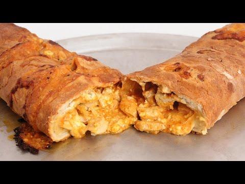 Buffalo Chicken Stromboli Recipe – Laura Vitale – Laura in the Kitchen Episode 871