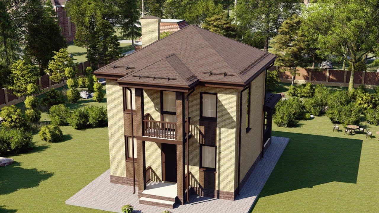 Простой и компактный проект двухэтажного дома 90 кв.м