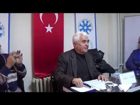 Hakkı YILMAZ-Türkiye Yazarlar Birliği İzmir Şubesi konuşması