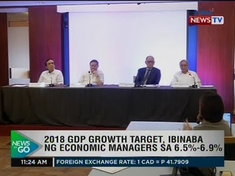 NTG: 2018 GDP growth target, ibinaba ng economic managers sa 6.5%-6.9%