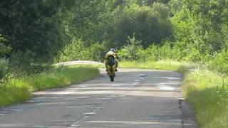 Maniek jazda na kole Gsx-r 750 K1