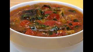 Как приготовить вкусный суп с баклажанами? Готовим первые блюда пошагово. Рецепт супа.