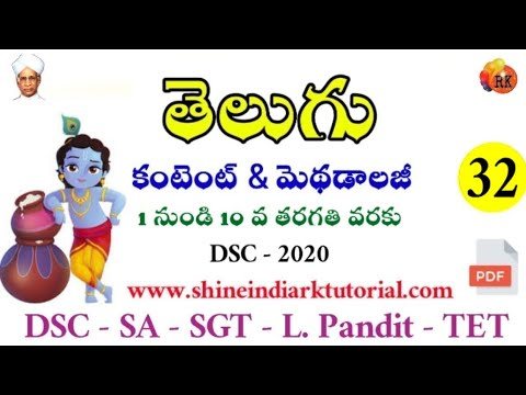 పదజాలం - అర్ధవివరణ || DSC - 2020 || Telugu Content For SA, SGT, LP || RK Tutorial