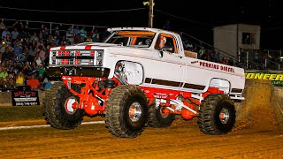 Jacked Up Truck Pulling!