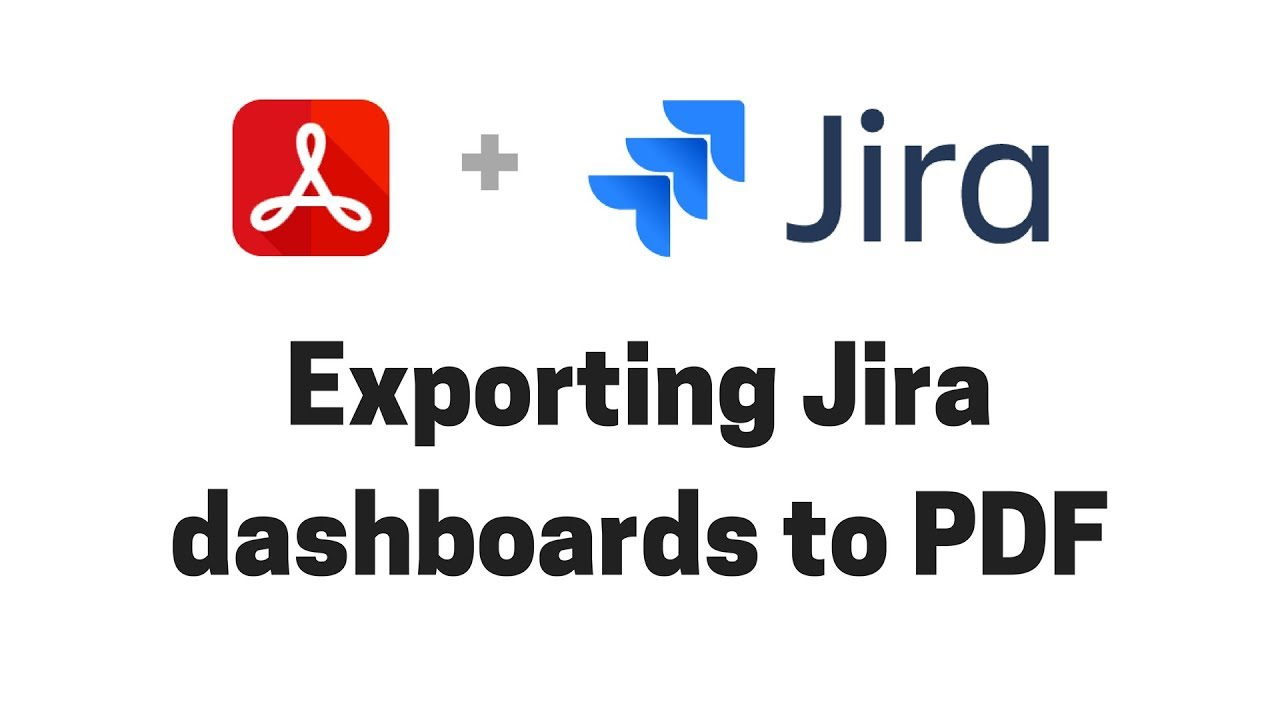 Exporting Jira dashboards to PDF