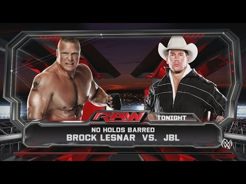 Brock Lesnar vs JBL RAW July 27, 2015 WWE 2K15
