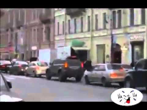 Велосипедист на дороге ПРИКОЛ