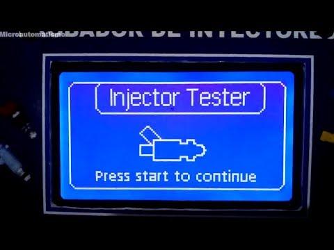Probador / Limpiador Inyectores automotriz, version 2019 (8 inyectores)