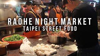 DELICIOUS TAIPEI STREET FOOD TOUR Raohe St Night Market Tour in Taiwan - vlog #044 part 2
