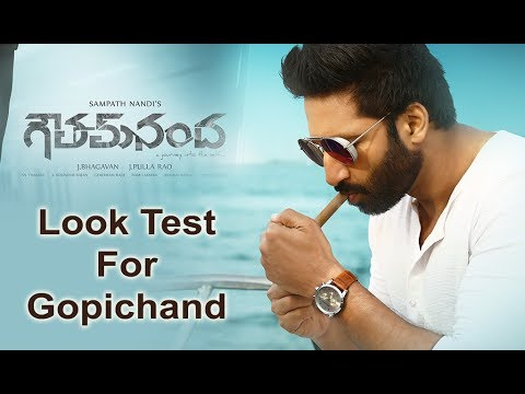 Gopichand Look Test For Gautham Nandha