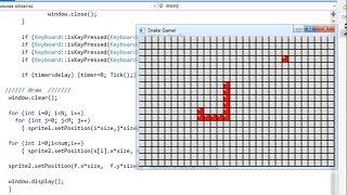 C++ SFML - Snake - hmong video