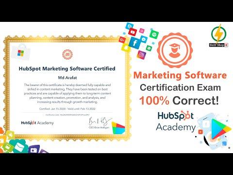 Marketing Software Certified Exam Answers 2020 | HubSpot ...