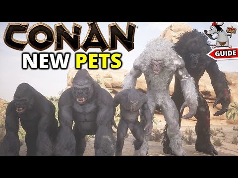 CONAN EXILES NEW PETS - YETI'S GORILLAS' MAMMOTHS AND ALPHA ELEPHANTS